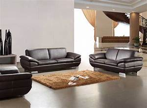 Italian Leather sofa set in Espresso Finish | Leather Sofas