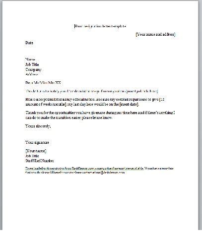 short resignation letter business templates executive