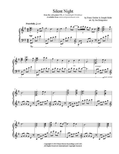 Silent night, holy night, all is calm, all is bright, 'round yon virgin. Silent Night - sheet music PDF - Joe Bongiorno - Shigeru Kawai solo piano artist - composer