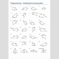 Maths Trigonometry Missing Sides Worksheet By Tristanjones  Teaching Resources Tes