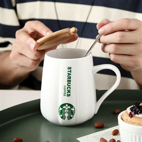 Starbucks free mask buddy band promotion from 16 november 2020 onwards. Hot 2020 New Starbucks Coffee Mug with wood lid&spoon 450ml Gift Limited Edition | eBay