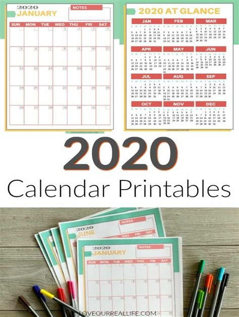 printable  calendars love  real life