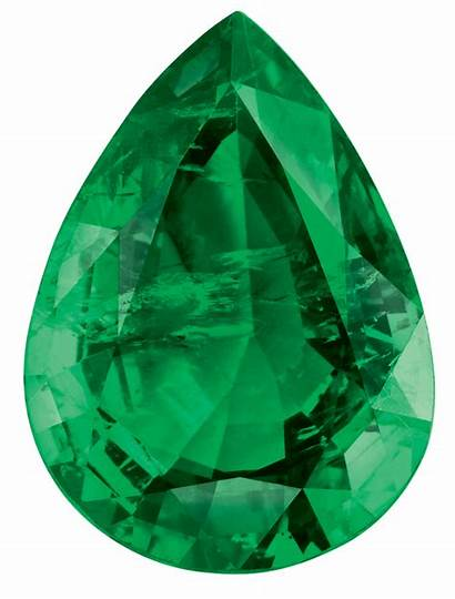 Emerald Stone Transparent Pear Emeralds Cut Pngs
