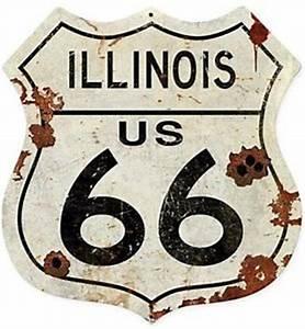 Route 66 Schild : schild route 66 illinois wappen metall abgenutzt mit einschussl chern pst ebay ~ Whattoseeinmadrid.com Haus und Dekorationen