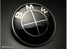 BMW Hood Emblem 82mm Full Black