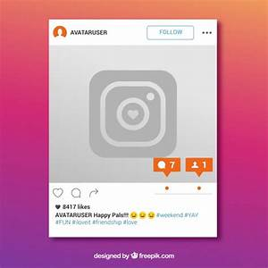 Marco de instagram con mensaje nuevo | Descargar Vectores ...