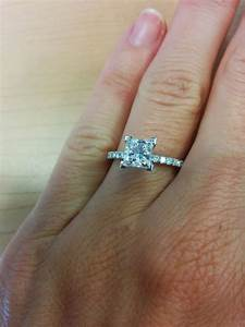 Wanting to see 1-2 carat princess cut solitaires on a 4.5 ...