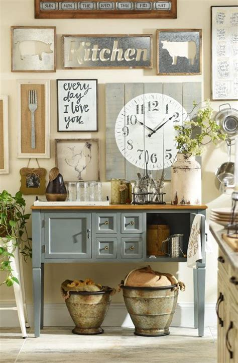 Decorating Ideas For A Kitchen Wall by 38 Stunning Rustic Kitchen Wall Decorating Ideas Homecoach