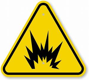 Iso explosion warning sign symbol fast and free shipping for Arc flash warning signs