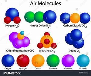 Raster Molecular Structure Air Molecules Stock