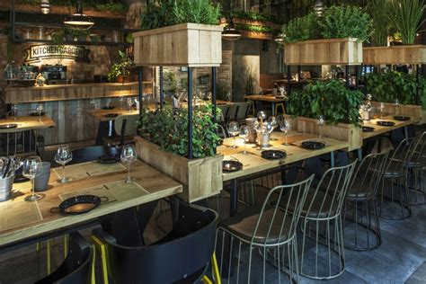 retail design segev kitchen garden restaurant by