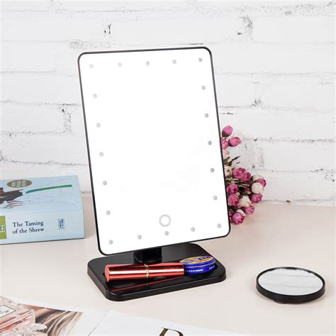 portable makeup mirror with lights makeup mirror 20 led lights portable vanity lighted 10x