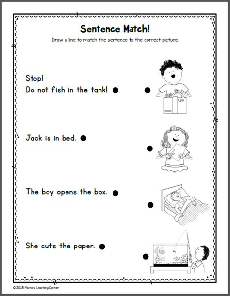 kindergarten reading  phonics packet  mamas learning