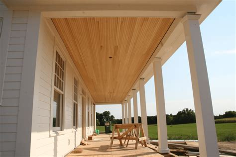 Cedar Porch Ceiling by Best Porch Ceiling Material Options