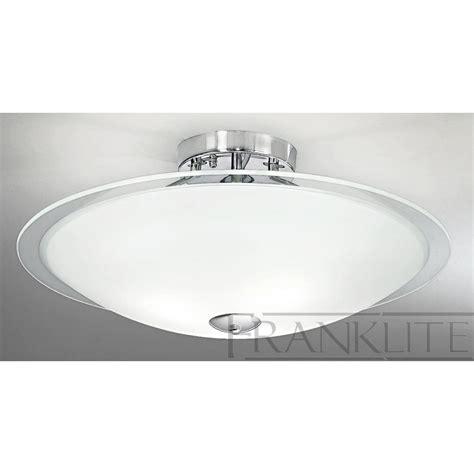 franklite fl2212 3 dysk chrome flush ceiling light