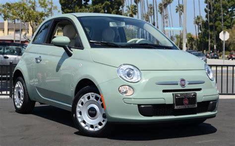 I Want! Mint Green Fiat 500
