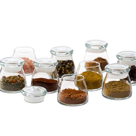 Mini Spice Jars by Libbey Vibe Mini Glass Spice Jars With Lids Set Of 12