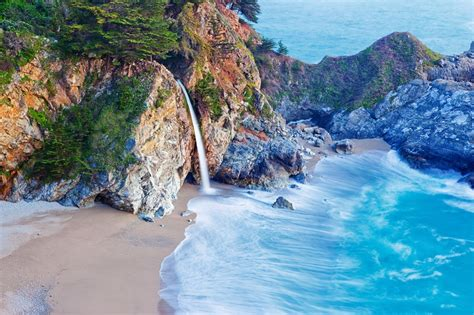 Mcway Falls Big Sur California Jigsaw Puzzle In