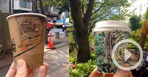 Panoramic coffee cup sketches by adrian hogan colossal for Panoramic coffee cup sketches by adrian hogan