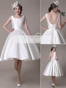 robe de soirã e courte pour mariage dos nu robe de mariée civile col en u en satin pas cher robe2012579 robedumariage