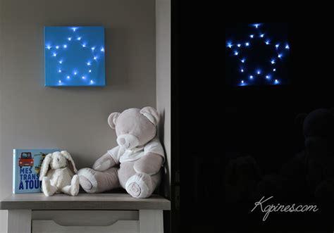 couleur de chambre de bébé création facile d 39 un tableau lumineux étoile à led