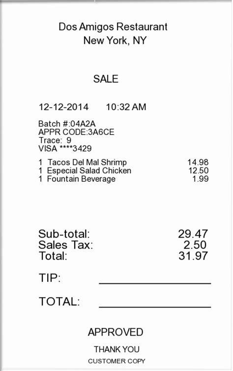 Itemized receipt   ExpressExpense   Custom Receipt Maker