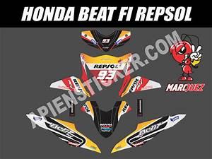 Striping Motor Beat Fi Repsol Marc Marquez