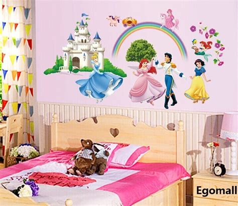 pcslot princess  wall stickers girl children bedroom