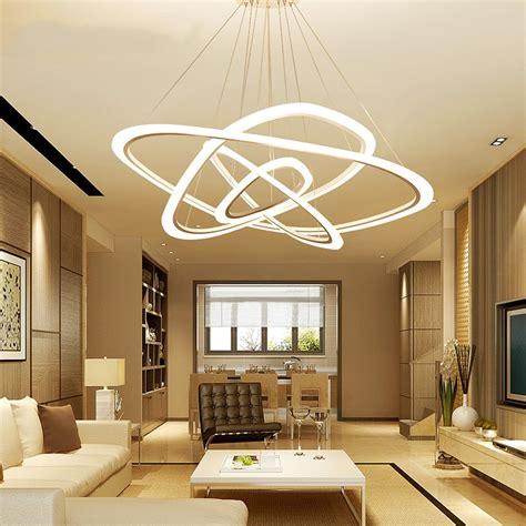modern led living room suspended ls creative bedroom