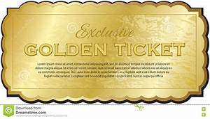 golden ticket stock vector illustration of performance With golden ticket template editable