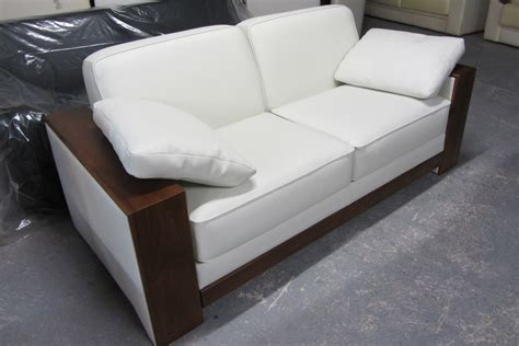 canapé bois canape cuir avec accoudoir bois
