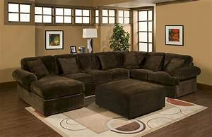 3 pc bradley sectional sofa with chocolate plush velour for Chocolate brown microfiber sectional sofa
