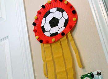 paper plate soccer plaque craft voetbal 634   470d56da19c1f48c05b2a142f4db53af