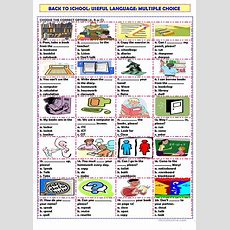 Back To School Classroom Vocabulary Worksheet  Free Esl Printable Worksheets Made By Teachers
