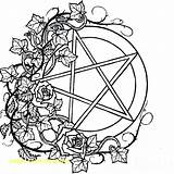 Coloring Pages Pagan Wiccan Mandala Sewing Adults Machine Books Printable Adult Bubble Gum Gumball Colouring Drawings Pentacle Print Colour Getcolorings sketch template