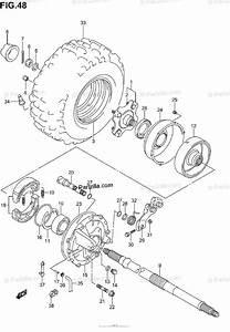 Suzuki Atv 2002 Oem Parts Diagram For Right Rear Wheel