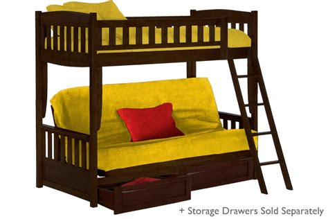 double bunk sofa bed kids wood futon bunk bed espresso cinnamon bunk the