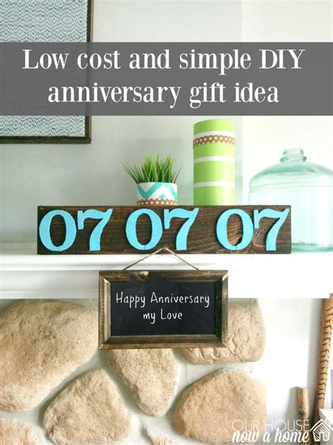 diy   cost anniversary gift ideas  house   home