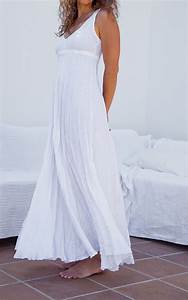 Long white linen dress maxi high waistline summer for White linen dress for beach wedding