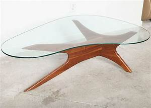 mid century adrian pearsall kidney shaped coffee table at With kidney shaped glass coffee table