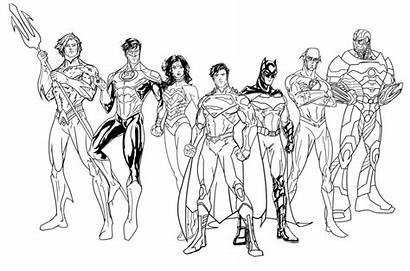 Coloring Pages Justice League Marvel Superhero Super