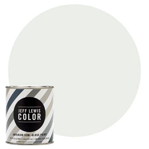 jeff lewis color 1 qt jlc612 cotton semi gloss ultra low voc interior paint 504612 the home