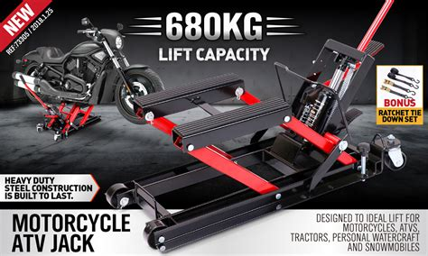 680kg Hydraulic Motorcycle Lifter Motorbike Atv Trolley