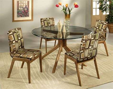 African Pattern Upholstered Dining Table Chairs Designs