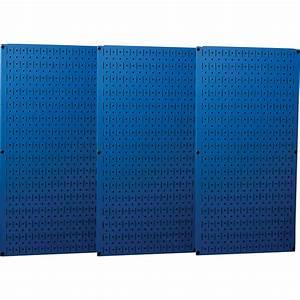 Wall, Control, Industrial, Metal, Pegboard, U2014, Blue, Three, 16in, X, 32in, Panels, Model, 35