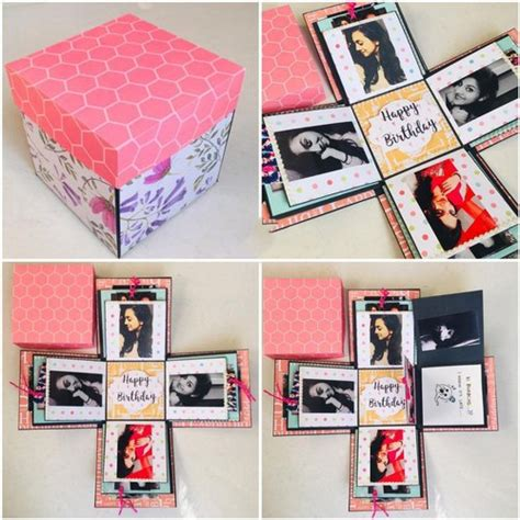 design paper explosion box square  rs box