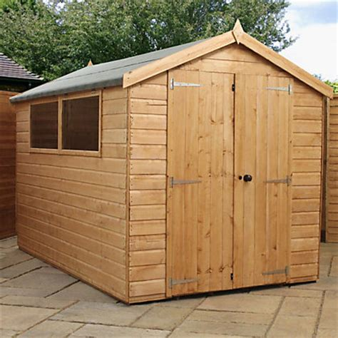 10ft X 6ft Shed by Mercia Premium Shiplap Apex Wooden Shed 10ft X 6ft