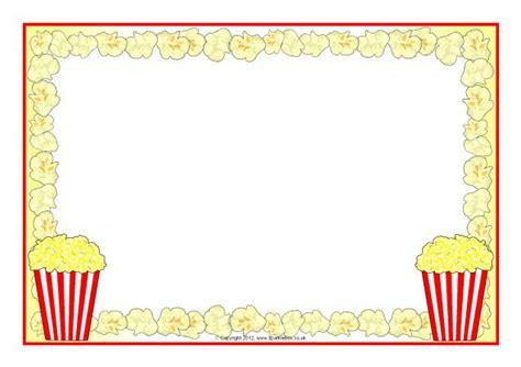 popcorn  page borders sb sparklebox