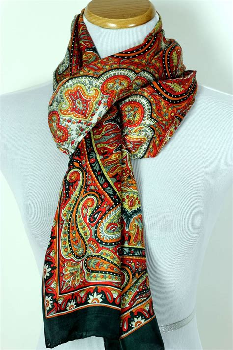floral paisley silk scarf banarsi designs