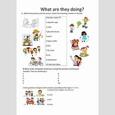 Present Continuous Interactive Worksheet